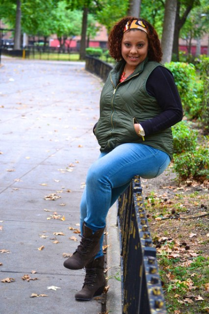 Old Navy vest - Blowfish boots - NY&CO jeans - Forever 21 necklace
