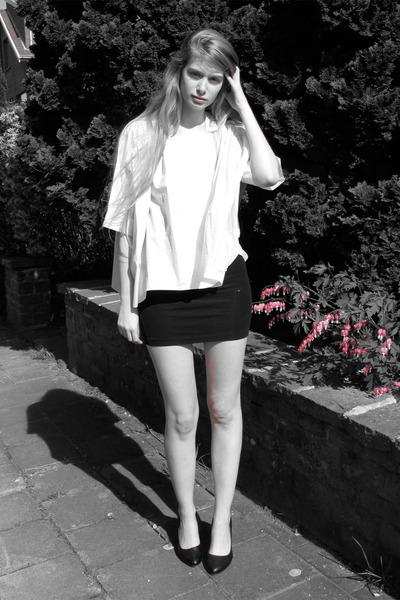 black american apparel dresses white cos blouses black vintage heels un peu de blanc sur un fond noir by mwa mwa chictopia