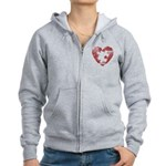 PIECE OF MY HEART Women's Zip Hoodie