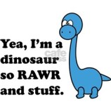 Yea, I'm a dinosaur so Rawr and stuff Kid's T-Shirt Design