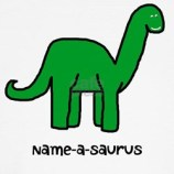 Name Your Own Dinosaur Kids T-Shirt Design