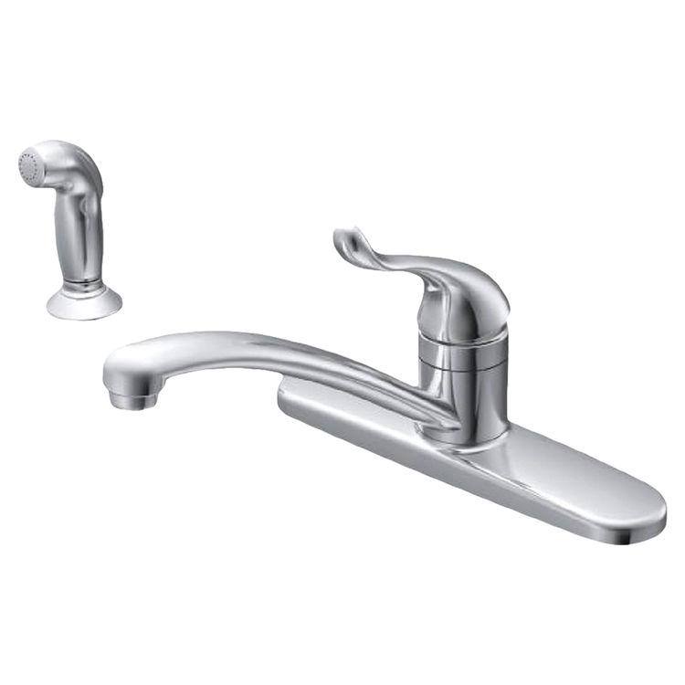 moen ca87530 chrome adler one handle kitchen faucet w spray
