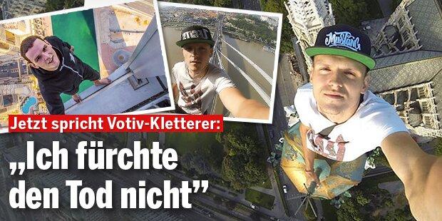 """Votiv-Kletterer: """"Ich fürchte den Tod nicht"""""""