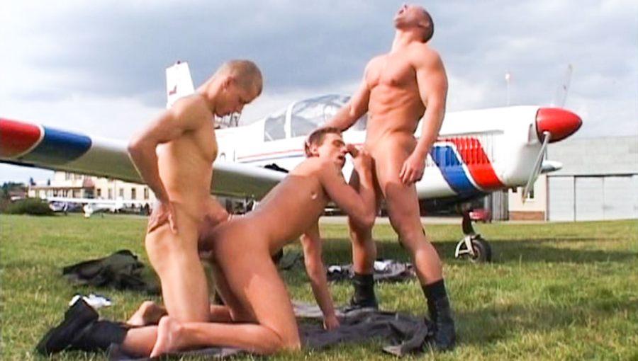 Fly Boys, Scene # 04   Joseph Lewis, Zavier Vulcain, Jason Sanchez (ragingstallion)