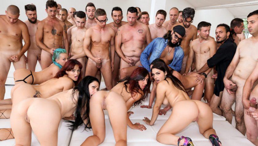 Roccos Italian Porn Boot Camp, Scene #04   Valentina E, Nataly Gold, Vesna, Valentina Nappi, Mary Rider, Luna Dark, Rocco Siffredi