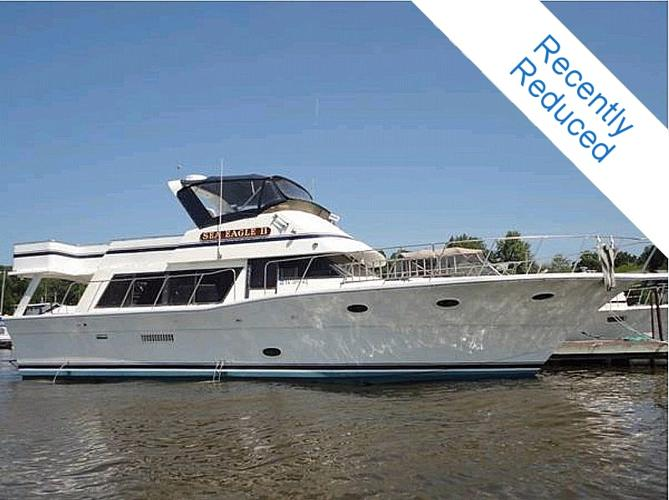 1983 Bluewater 52 Motor Yacht W Raised Pilothouse For