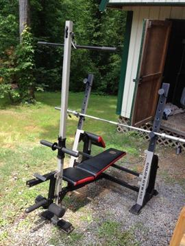 Gold Gym Xr5 Weight Bench With Weights Amp Rack For Sale In