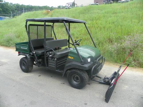 "2007 Kawasaki 3010 Mule Trans 4x4 W/winch And 72"" Plow"