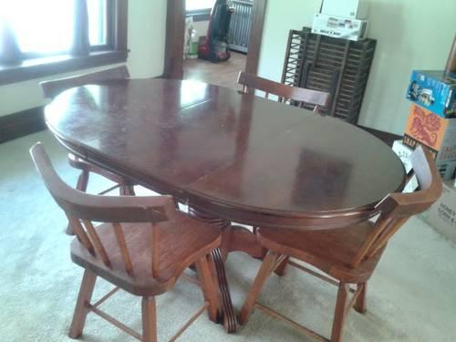 AWESOME Cherry Dining Room Table w  chairs  Handmade for Sale in     AWESOME Cherry Dining Room Table w  chairs  Handmade