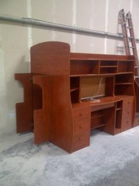 Berg Play N Study Loft Bed With Desk For Sale In Tampa