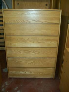 Dresser 6 Drawers Oak Not Pressboard 51Tall For