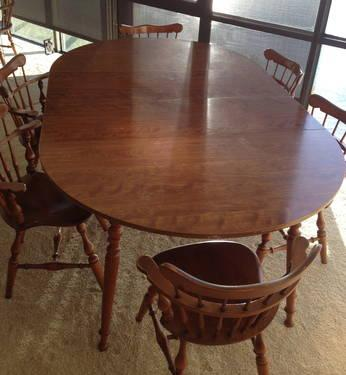 Ethan Allen Heirloom Collection Maple Dining Set W 6 Comb
