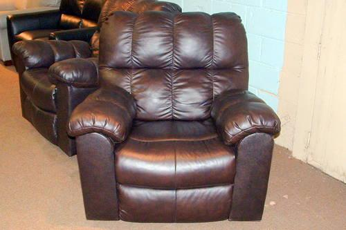 GENUINE 100 LEATHER SWIVELROCKRECLINE RECLINER ASIS
