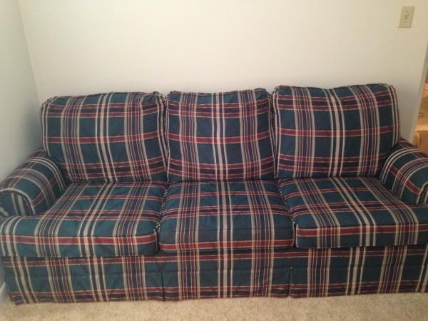 Green Plaid Couch For Sale In Dayton Ohio Classified