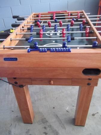 Harvard Foosball Table With Multiple Games For Sale In