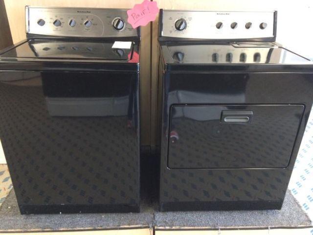 Kitchenaid Superba Dryer Black Washer Dryer Set Pair Superba Kitchenaid  Superba Dryer