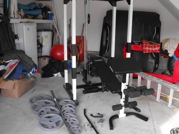 Like New Weider Olympic Squat Cage Cables Pull Ups 300