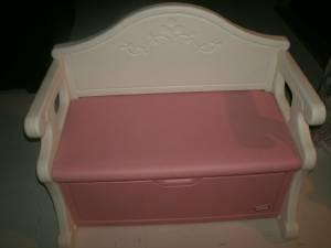 Little Tikes Victorian Bench Toy Box Pink Amp White West