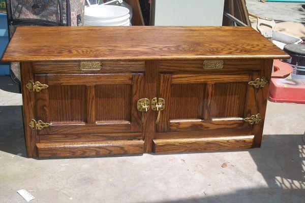 oak ice box coffee table porterville