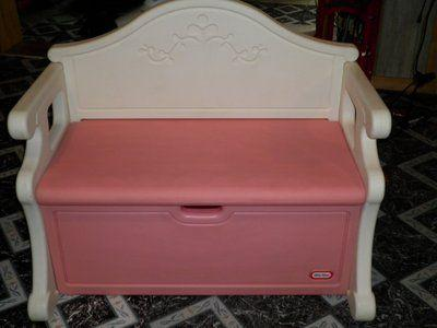 Pink Little Tikes Victorian Toy Box Bench Binghamton