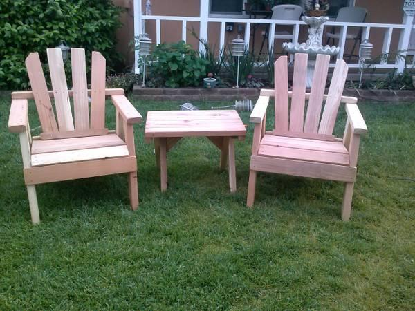 redwood patio furniture new for sale