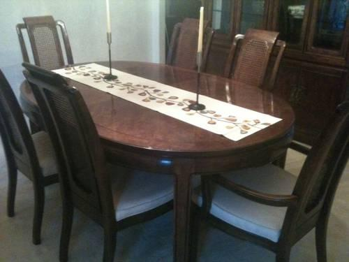 Thomasville Mystique Dining Room Set Table Chairs Server
