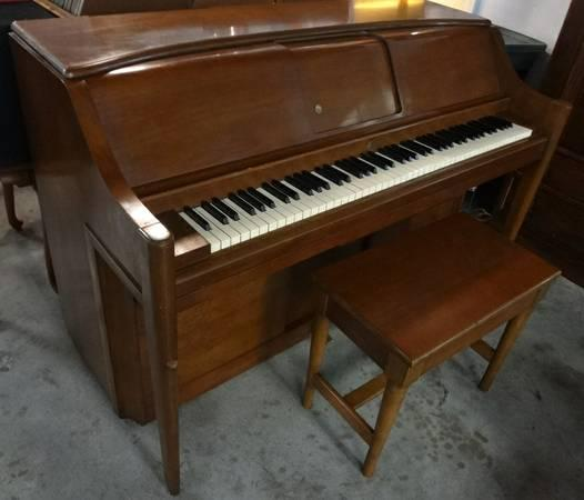 Vintage Musette Player Piano With Bench For Sale In