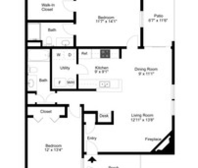 Two Bedroom  Bedrooms From  Castle Ridge Apartments In
