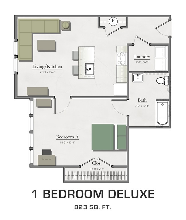 1 Bedroom Deluxe Hannah Lofts Townhomes