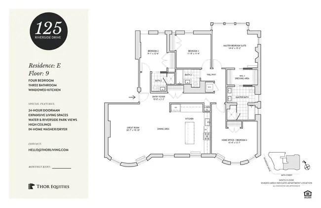 Floorplan 125 Riverside Drive