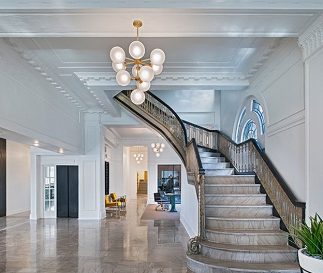 Grand Staircase And Leasing Office The Hamilton Midtown Detroit