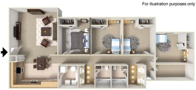 Floorplan Bengal Creek Apartments