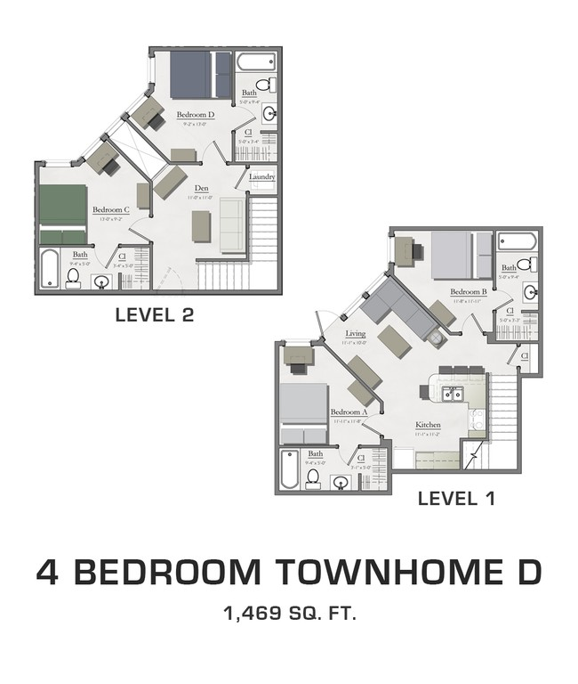 4 Bedroom Townhome D Hannah Lofts Townhomes