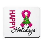 Burgundy Ribbon Christmas Mousepad