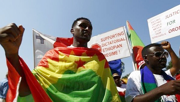 Oromo protests against the Ethiopian government. Photo: Reuters.