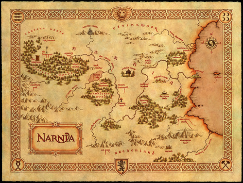 Image result for the chronicles of narnia map