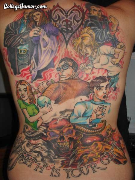 a obsessed buffy fan's tattoo