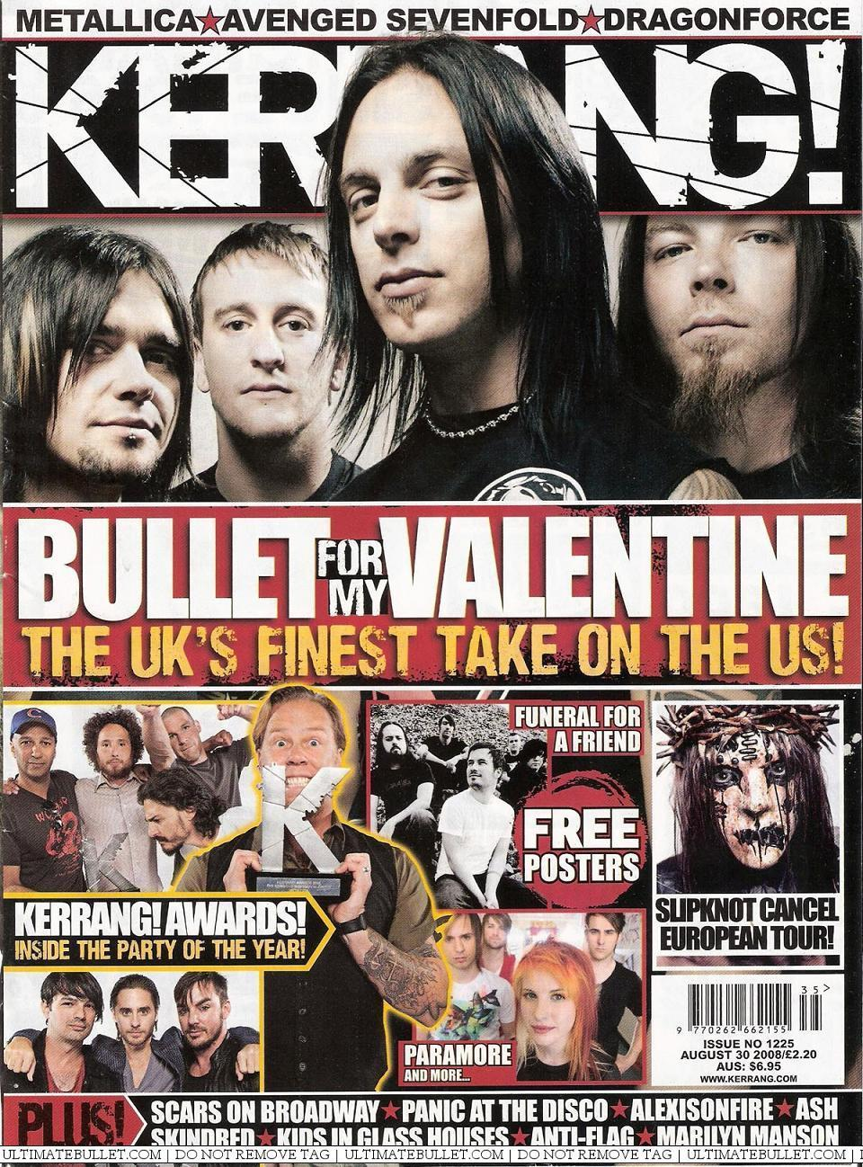 Kerrang August 2008 Bullet For My Valentine Photo