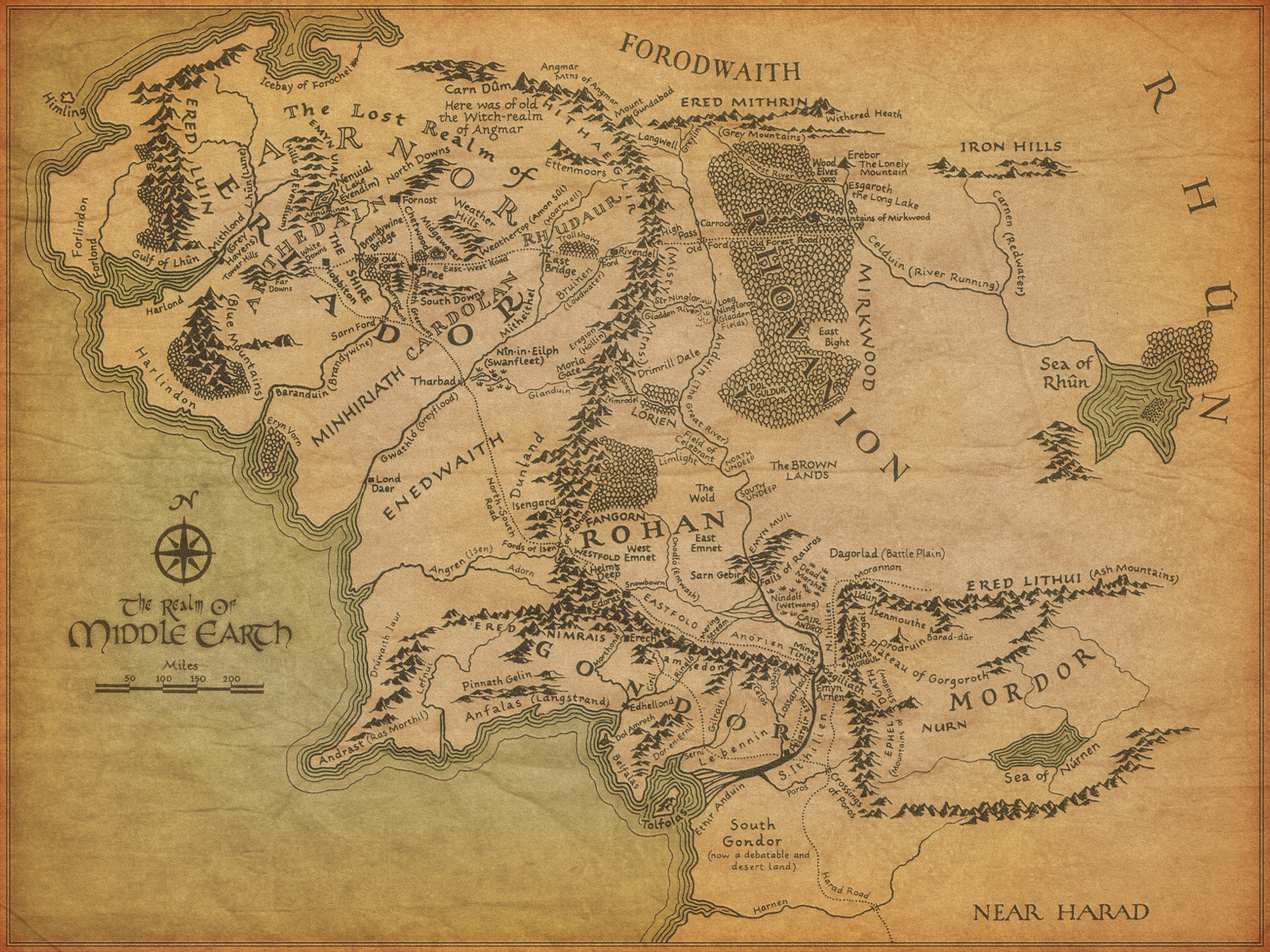 Middle Earth Label The Map Quiz
