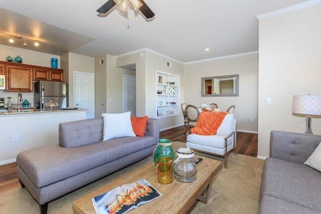 Living Room Azure Creek At Tatum Ranch Apartments