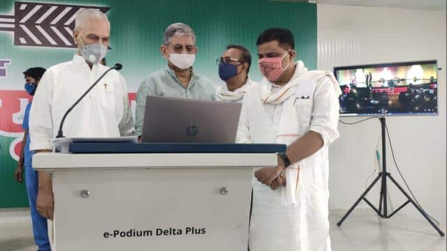 virtual platform jdu live web portal launched in patna party office and cm nitish will start elector