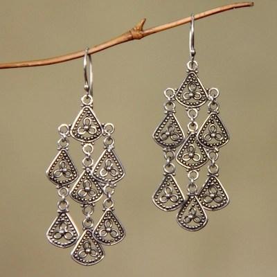 Sterling Silver Chandelier Earrings Bali Belle