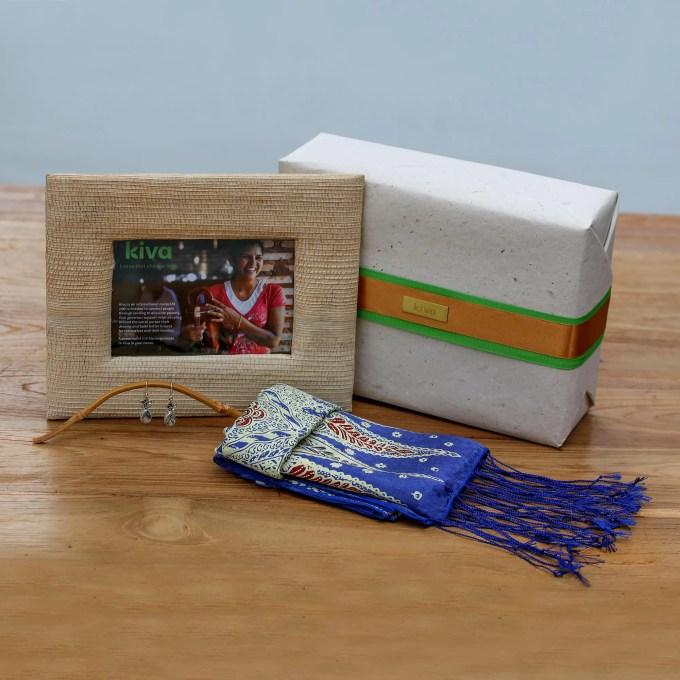 Kiva Bali Handcrafted Scarf And Jewelry Gift Set
