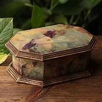 Decoupage jewelry box, 'Fashionista' (Mexico)
