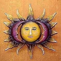 Sun Moon Face Art