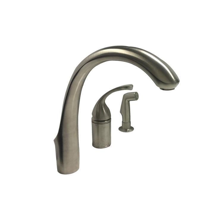 kohler k 10430 bn brushed nickel kitchen faucet with spray