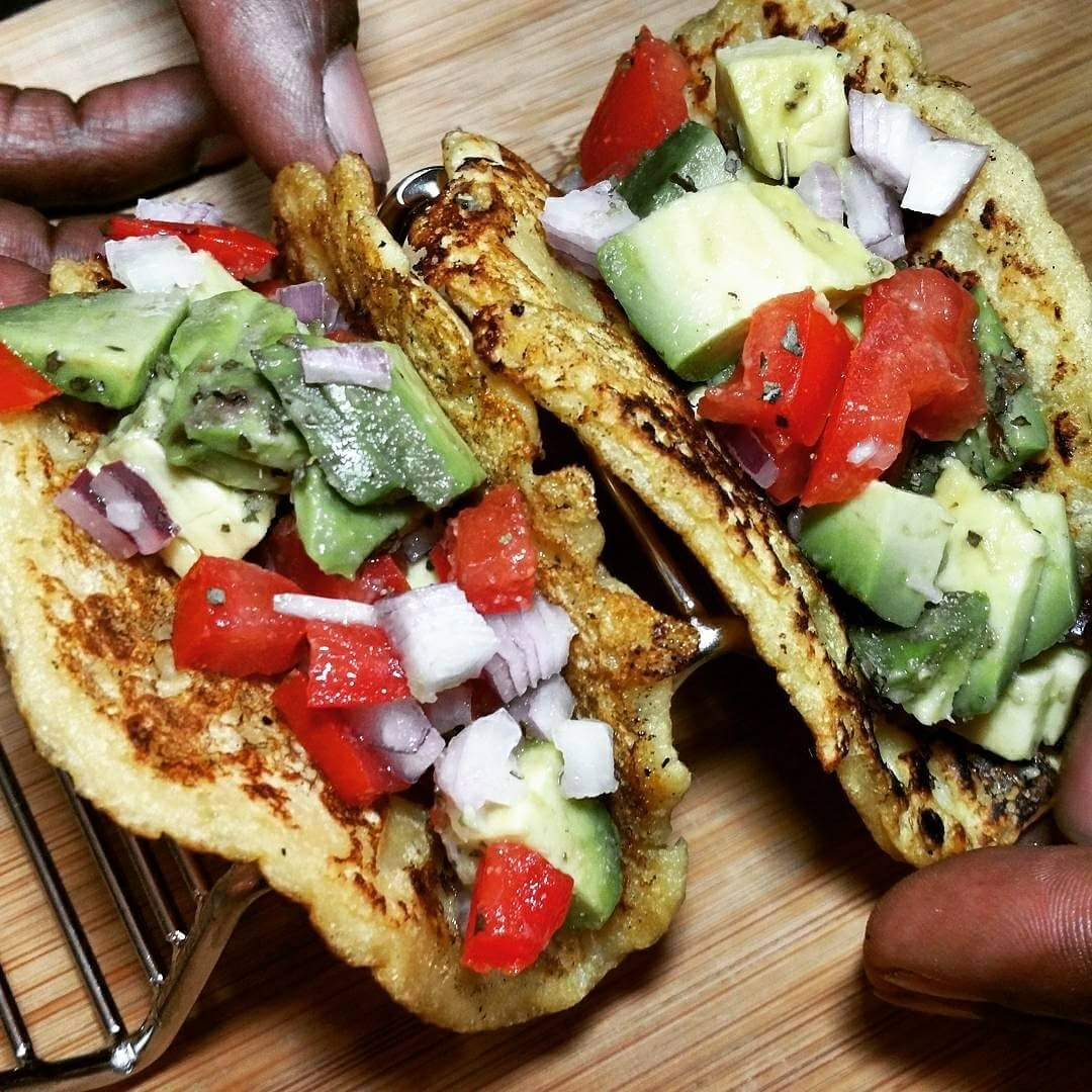 Easiest Garbanzo Soft Shell Tacos Ever