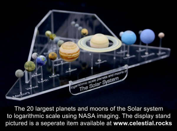 Solar System models all planets and major moons KEE55AKJW by jayfisher