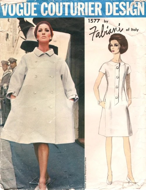 Alberta Tiburzi on a 1960s pattern, Vogue 1577 by Fabiani