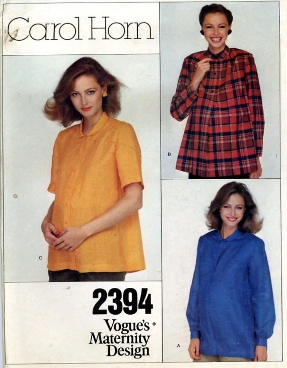1980s maternity pattern by Carol Horn - Vogue 2394